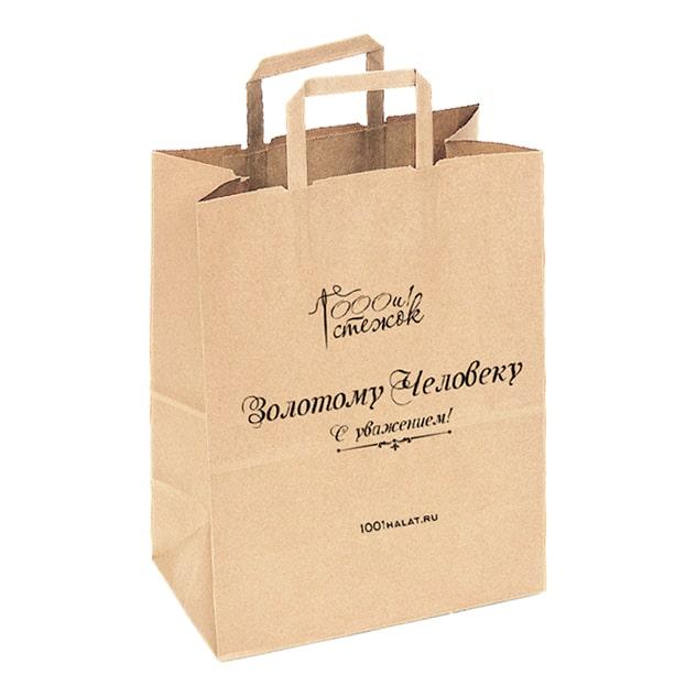Подарочный крафт пакет (бесплатно при заказе халата)